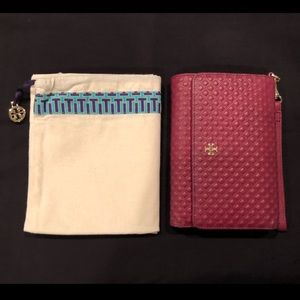Tory Burch Marion Quilted Leather Wristlet Wallet